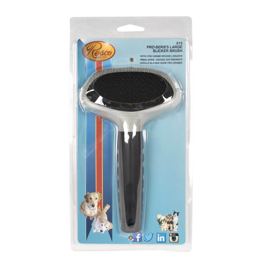 Pet Grooming Resco Pro-Series Slicker Brush Best Mat Remover for Dog Cat Large