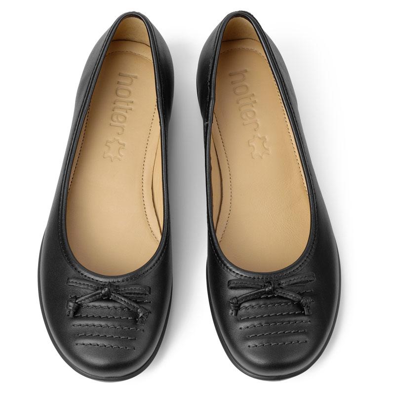 Hotter-Women-039-s-Emmy-Ballerina-Suede-Slip-on-Adult-Flats-Casual-Ballet thumbnail 4