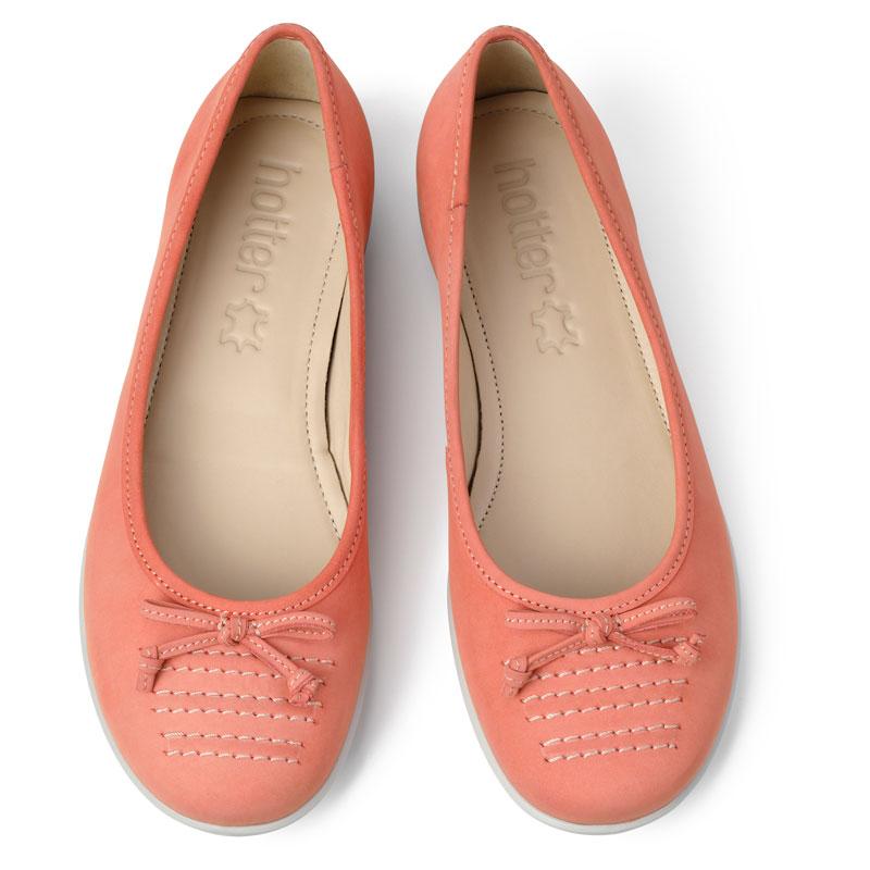 Hotter-Women-039-s-Emmy-Ballerina-Suede-Slip-on-Adult-Flats-Casual-Ballet thumbnail 8