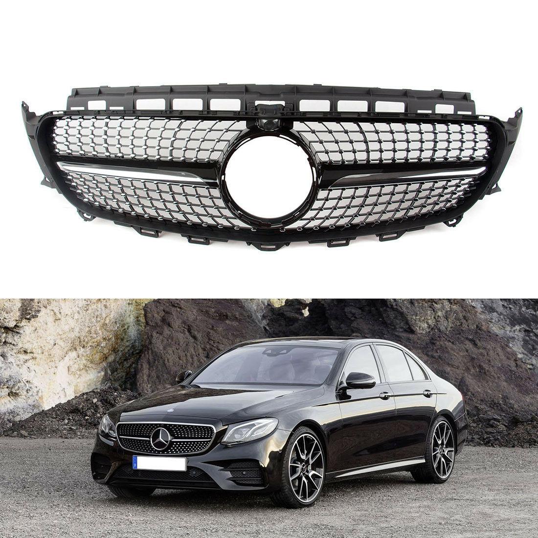 Mercedes W213 E class Diamond Grille Sport Avantgarde Benz 2016 2017 Black AMG
