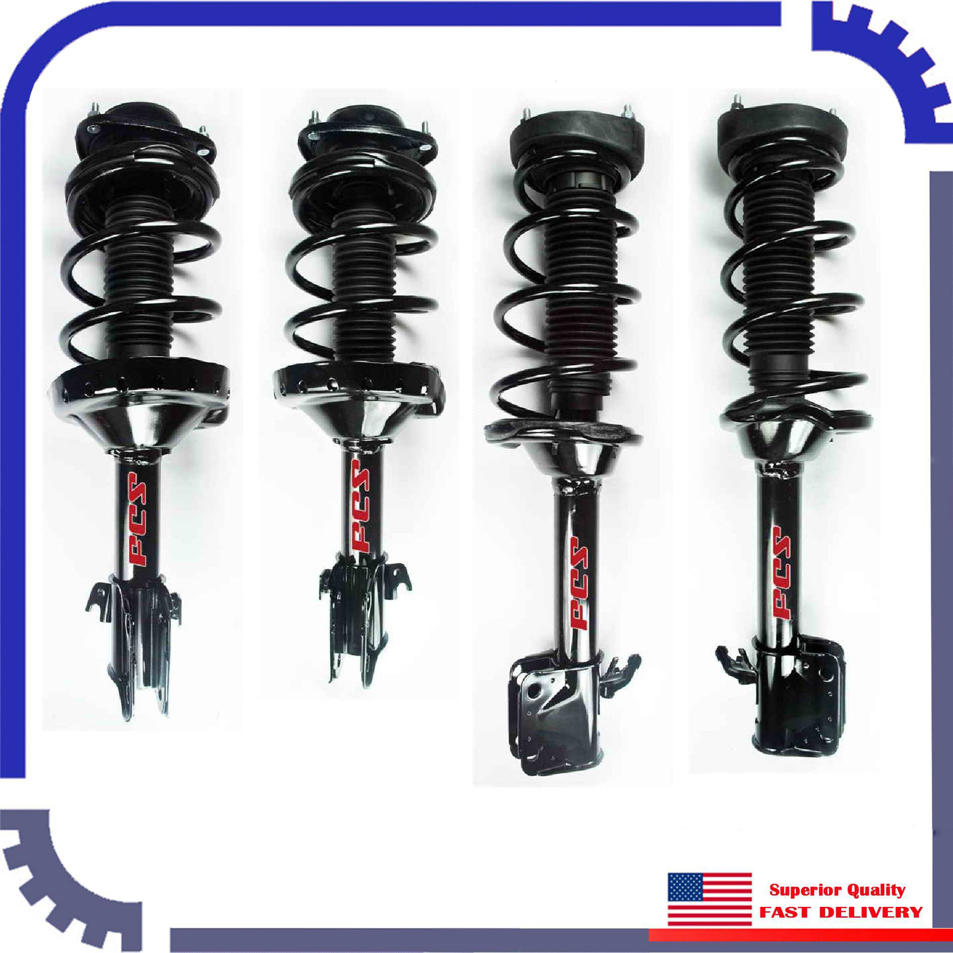 Suspension Strut Assembly Rear FCS 345763 fits 12-15 Subaru Impreza
