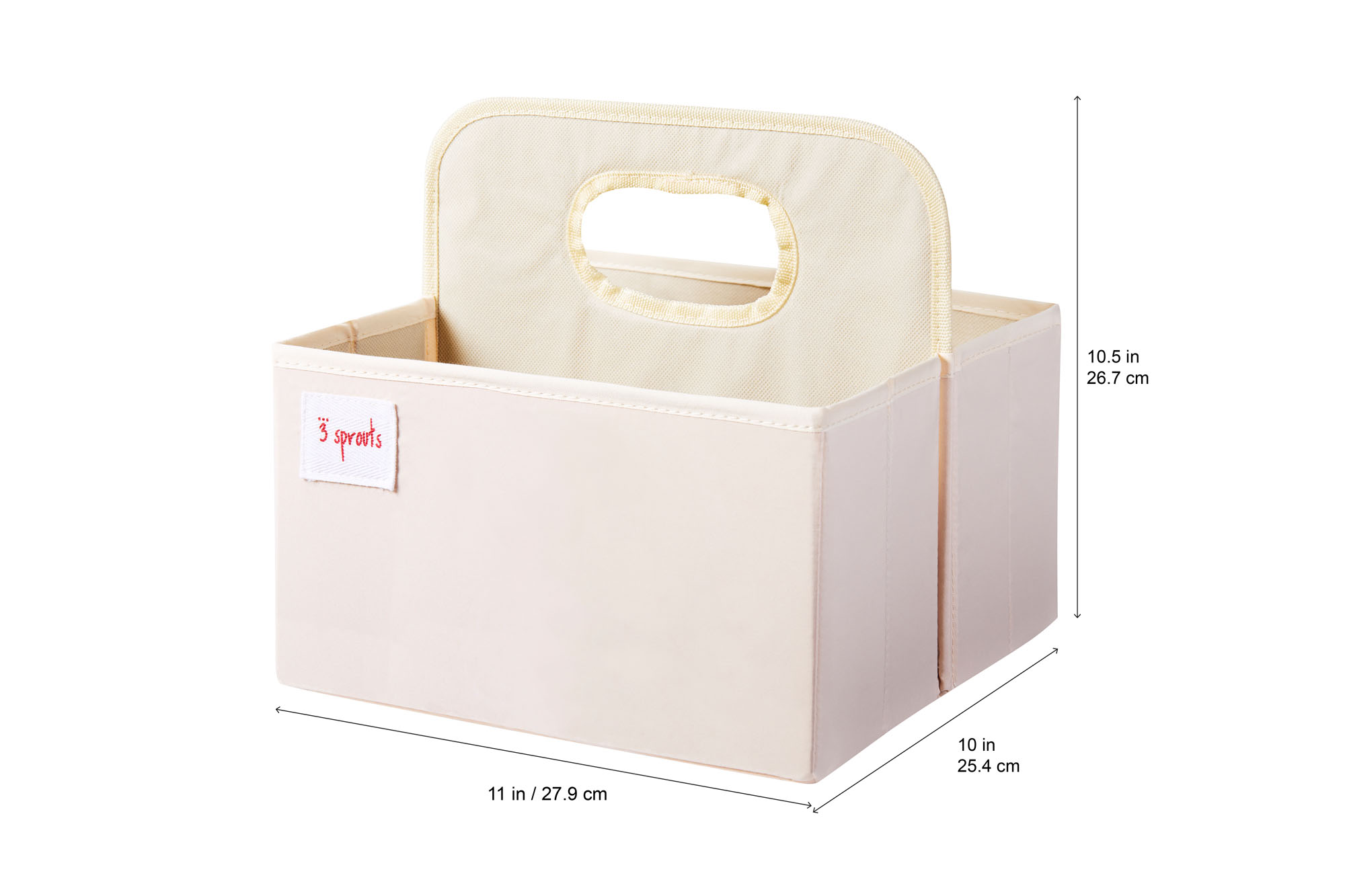 Owl 3 Sprouts Baby Diaper Caddy Organizer Basket for Nursery
