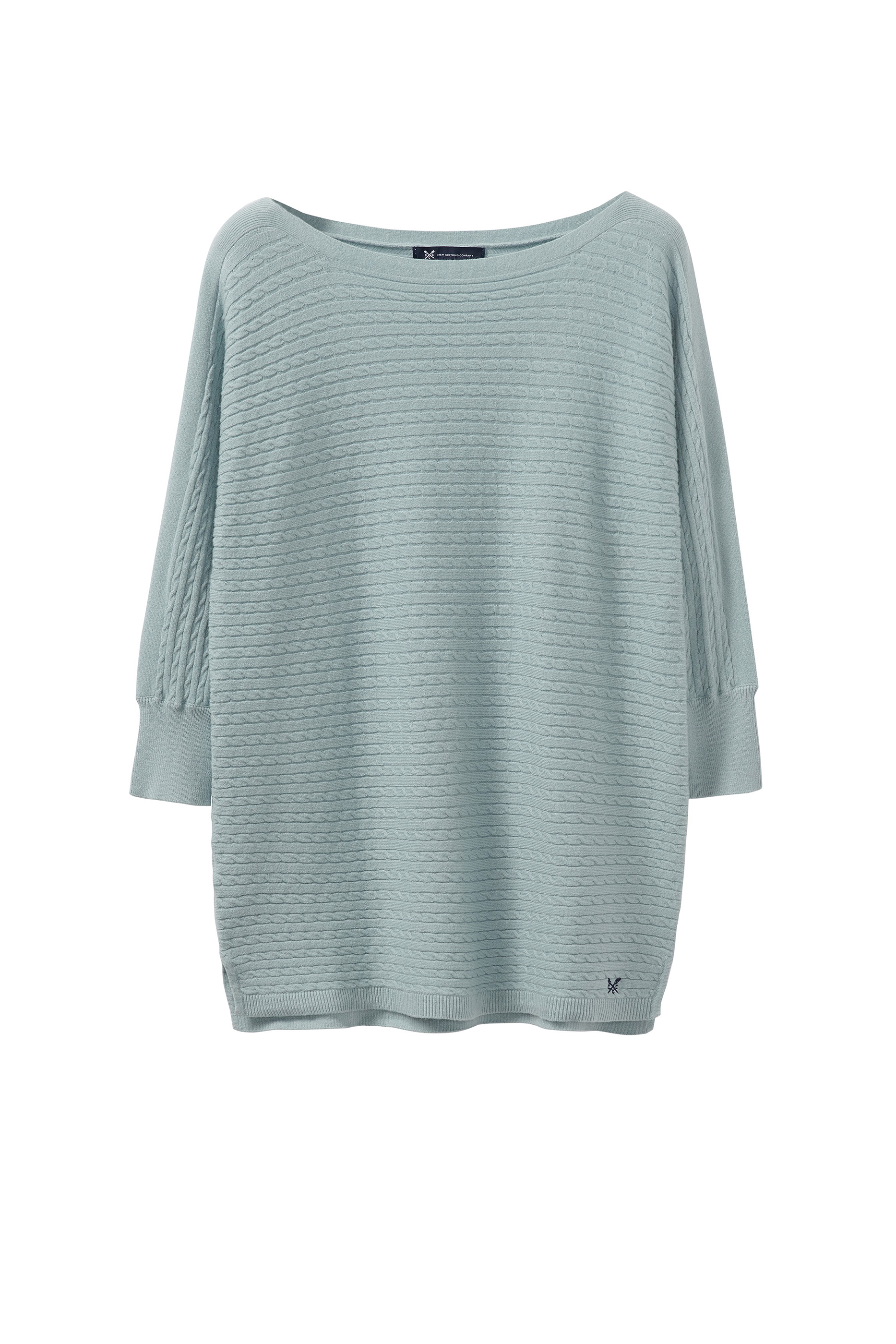 New-Crew-Clothing-Womens-Cable-Batwing-Jumper-in