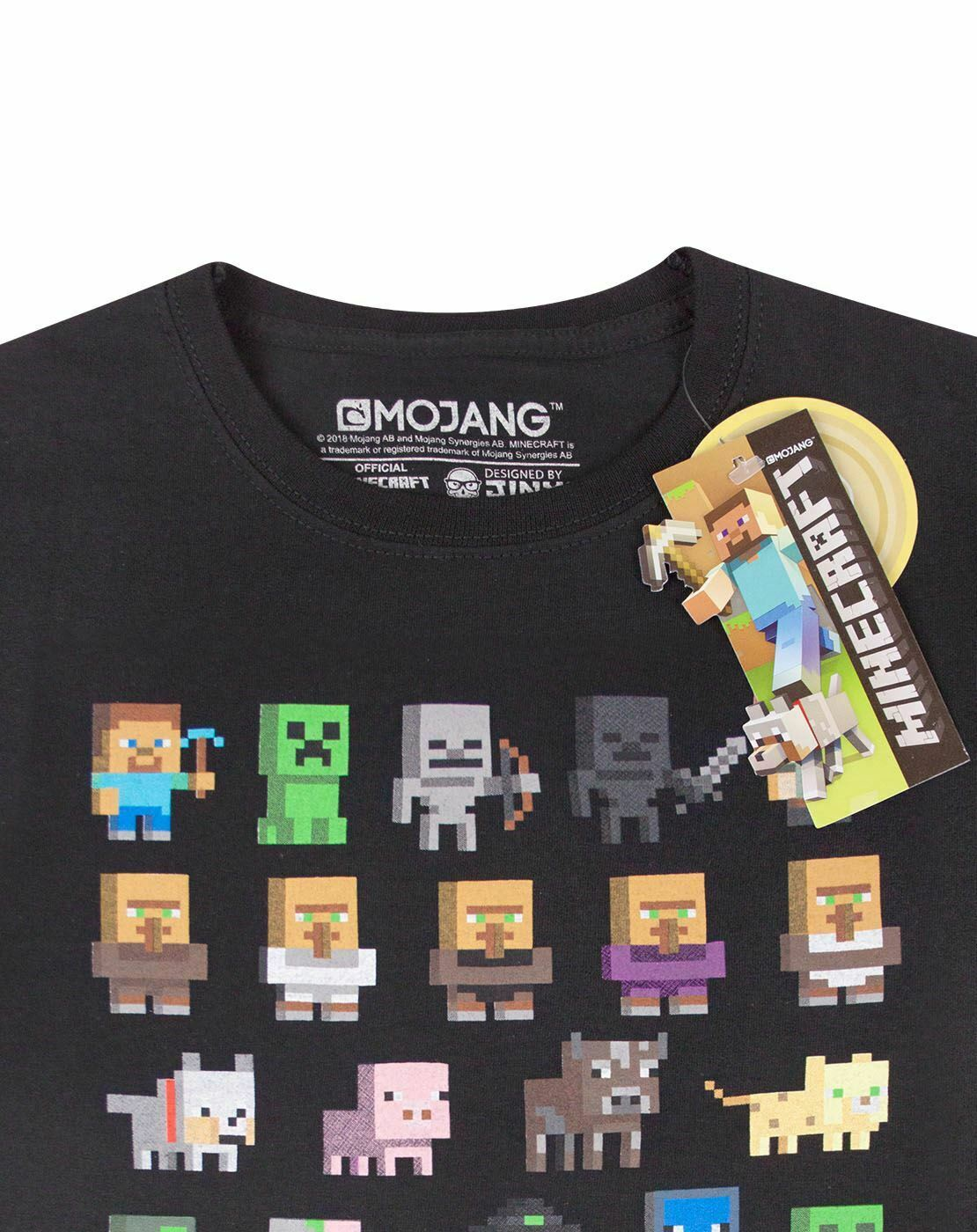 Minecraft Sprites Boys T-Shirt Green 9-10 Years
