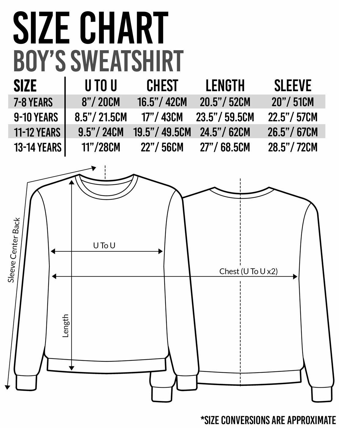 Minecraft-Sprites-Boys-Black-Sweatshirt-Kids-Black-Sweater thumbnail 10