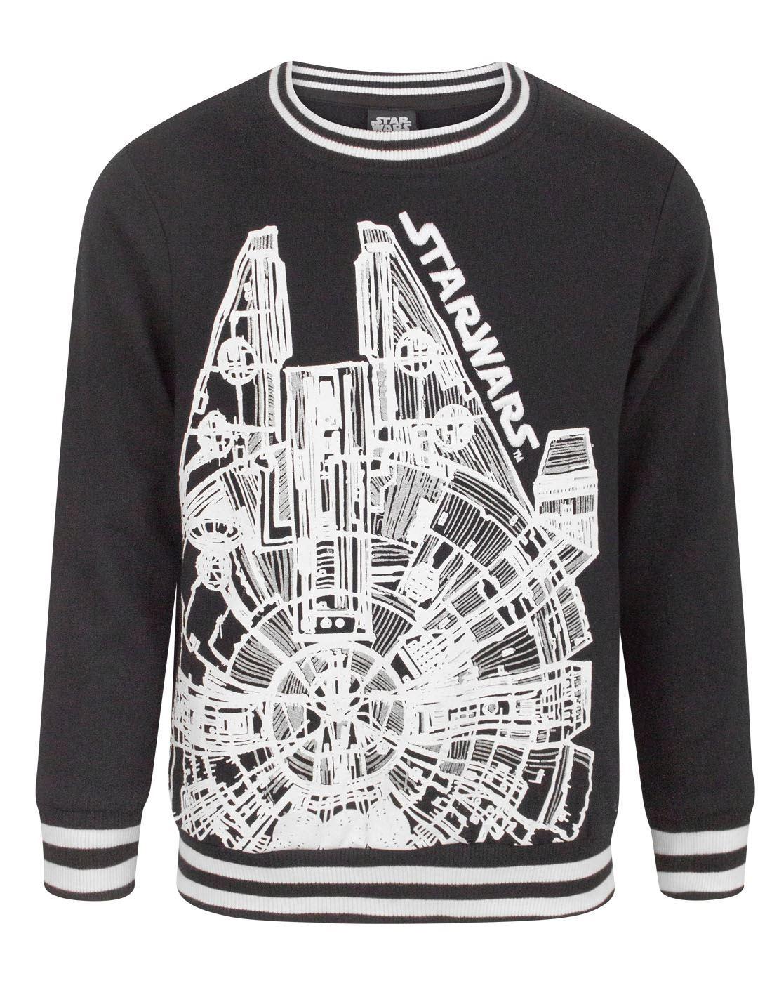 Black Boys T-shirt Star Wars Millenium Falcon 3-4 Years