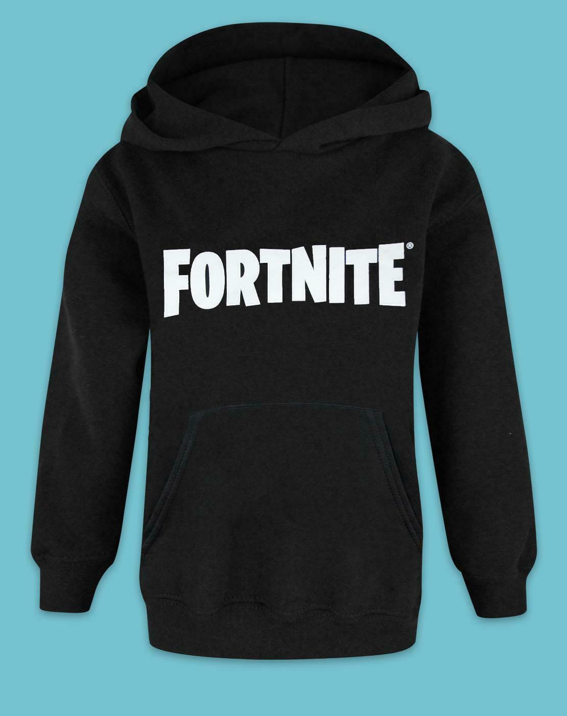 Fortnite-Logo-Boys-Black-Hoodie thumbnail 7