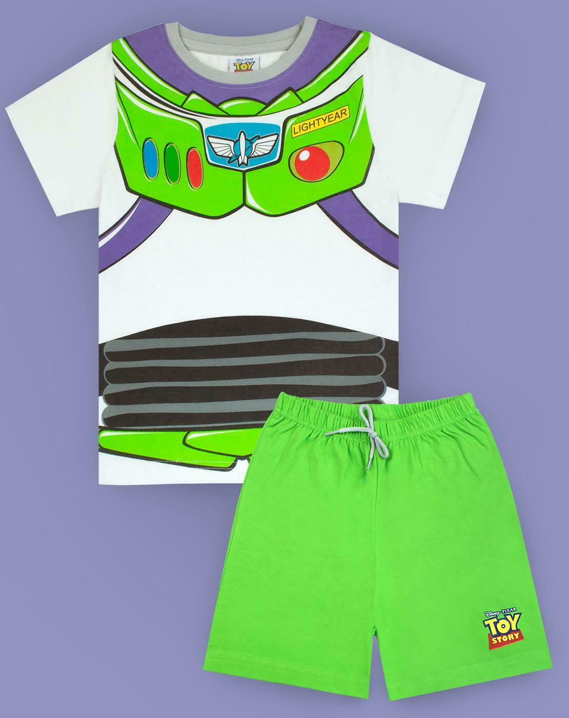 Disney Pixar Toy Story Buzz Lightyear Costume Boys Short Pyjamas