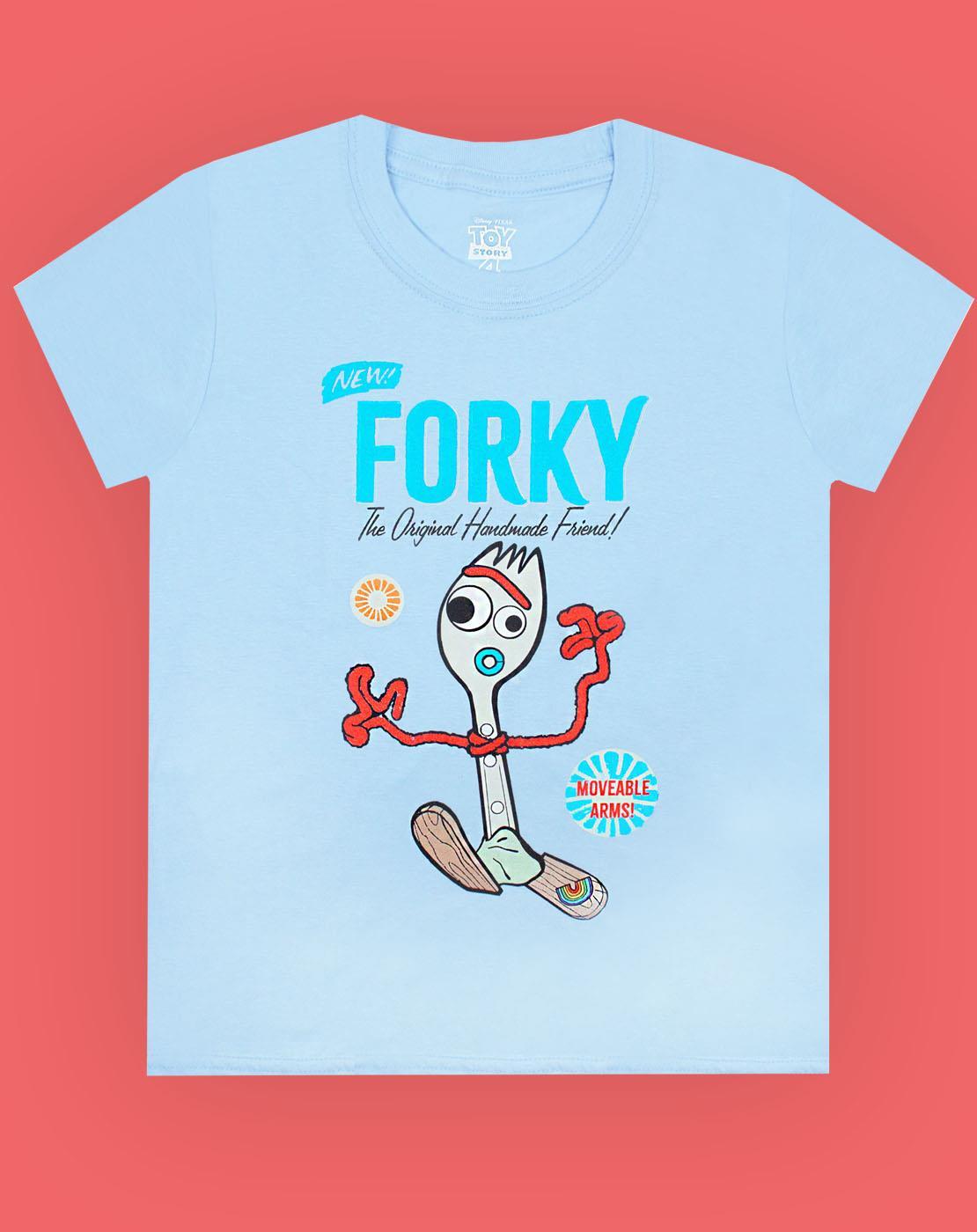 Disney-Pixar-Toy-Story-Forky-Boy-039-s-Blue-T-Shirt-Movie-Kids-Short-Sleeve-Tee thumbnail 7