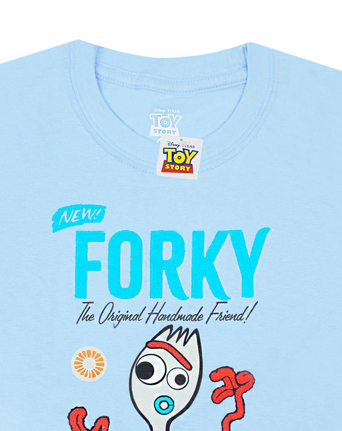 Disney-Pixar-Toy-Story-Forky-Boy-039-s-Blue-T-Shirt-Movie-Kids-Short-Sleeve-Tee thumbnail 9