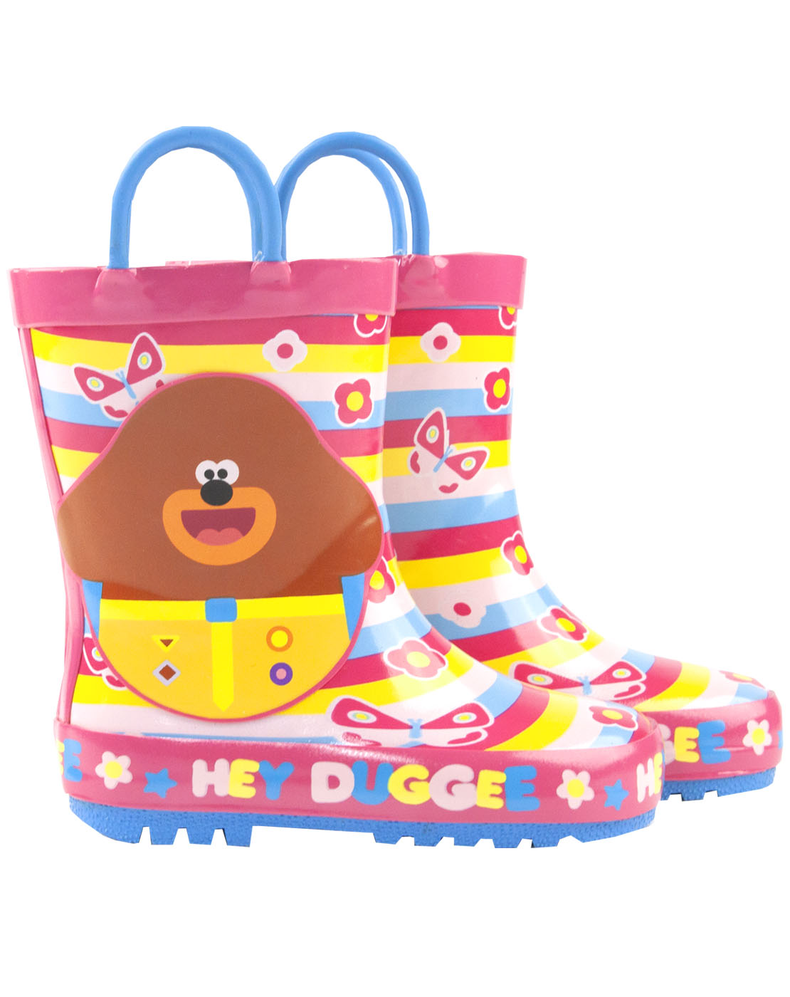 Kids Childrens Girls Pink Blue Hey Duggee Wellies Snow Rain Boots Size 5-10