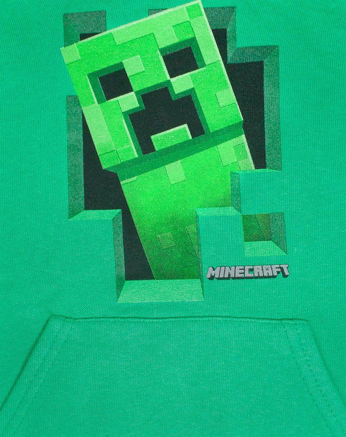 Minecraft-Green-Creeper-Boys-Hoodie-Kids-Long-Sleeve-Hooded-Sweater thumbnail 7