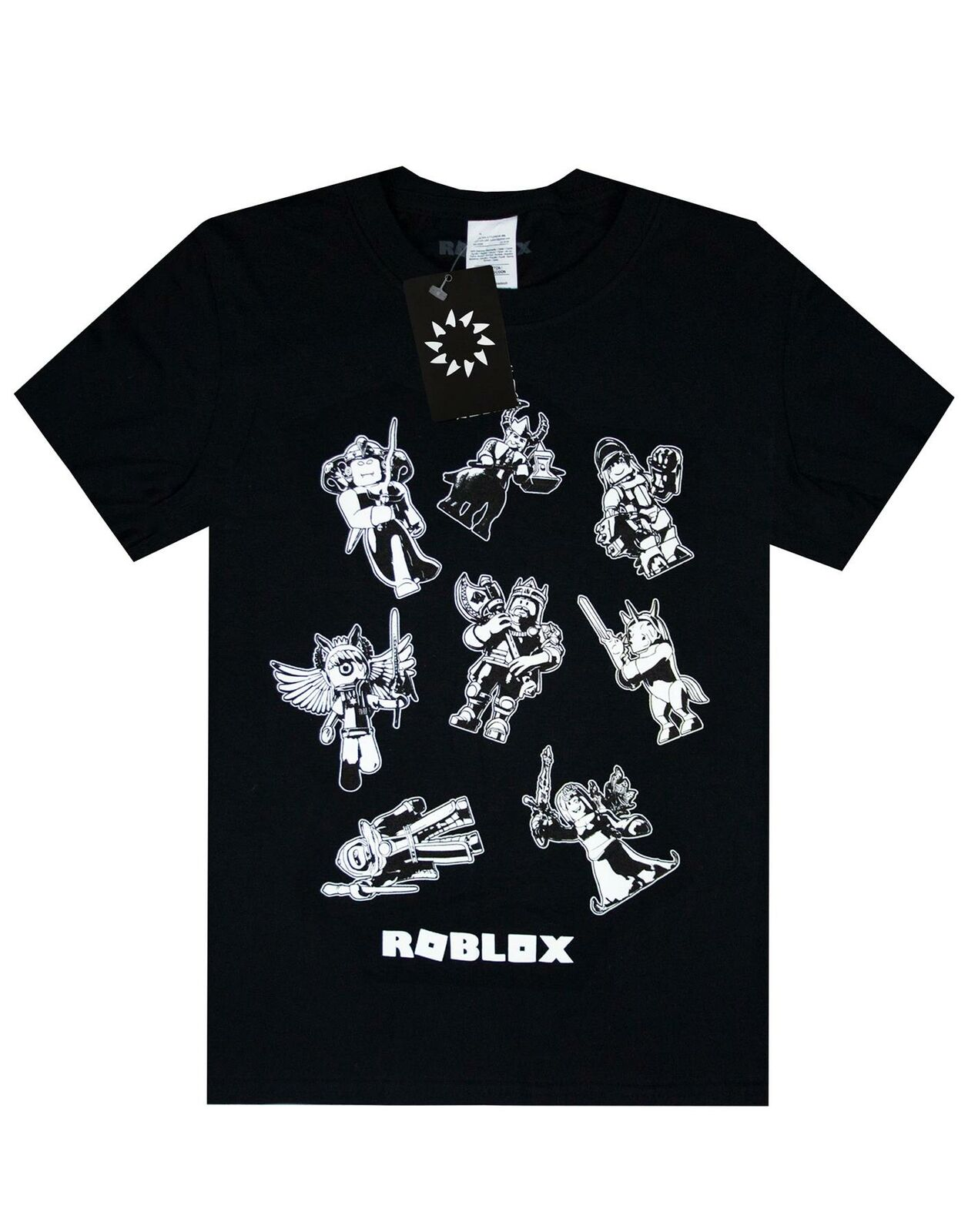 Roblox-Characters-In-Space-Kid-039-s-Black-T-Shirt-Short-Sleeve-Gamer-039-s-Tee thumbnail 11