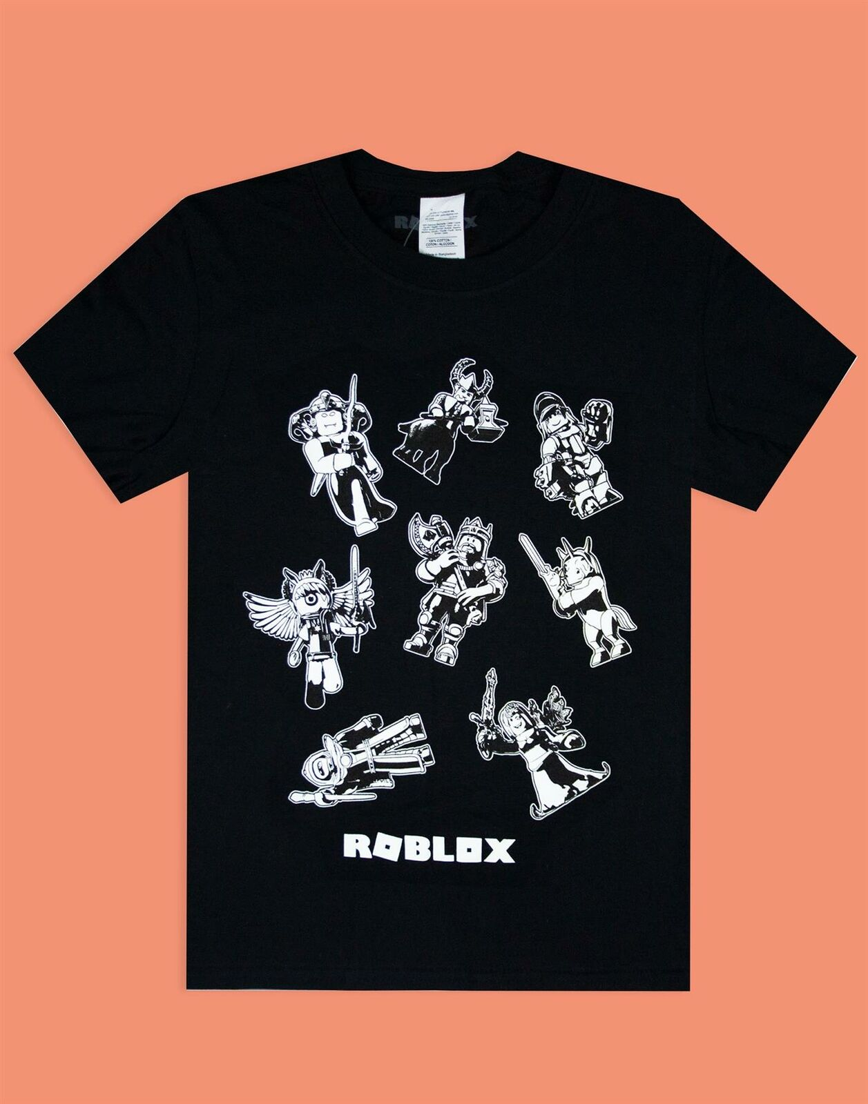 Roblox-Characters-In-Space-Kid-039-s-Black-T-Shirt-Short-Sleeve-Gamer-039-s-Tee thumbnail 8
