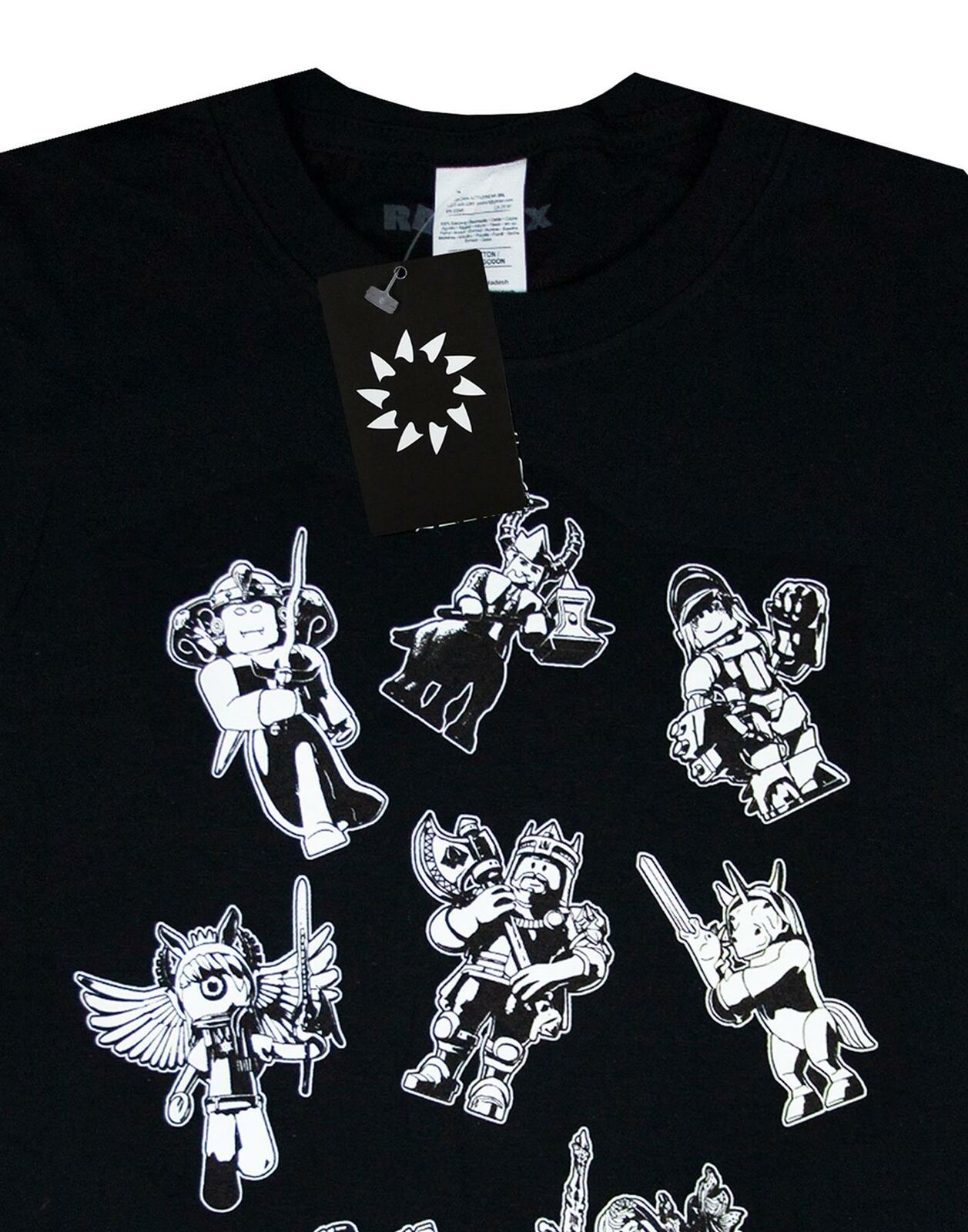 Roblox-Characters-In-Space-Kid-039-s-Black-T-Shirt-Short-Sleeve-Gamer-039-s-Tee thumbnail 10