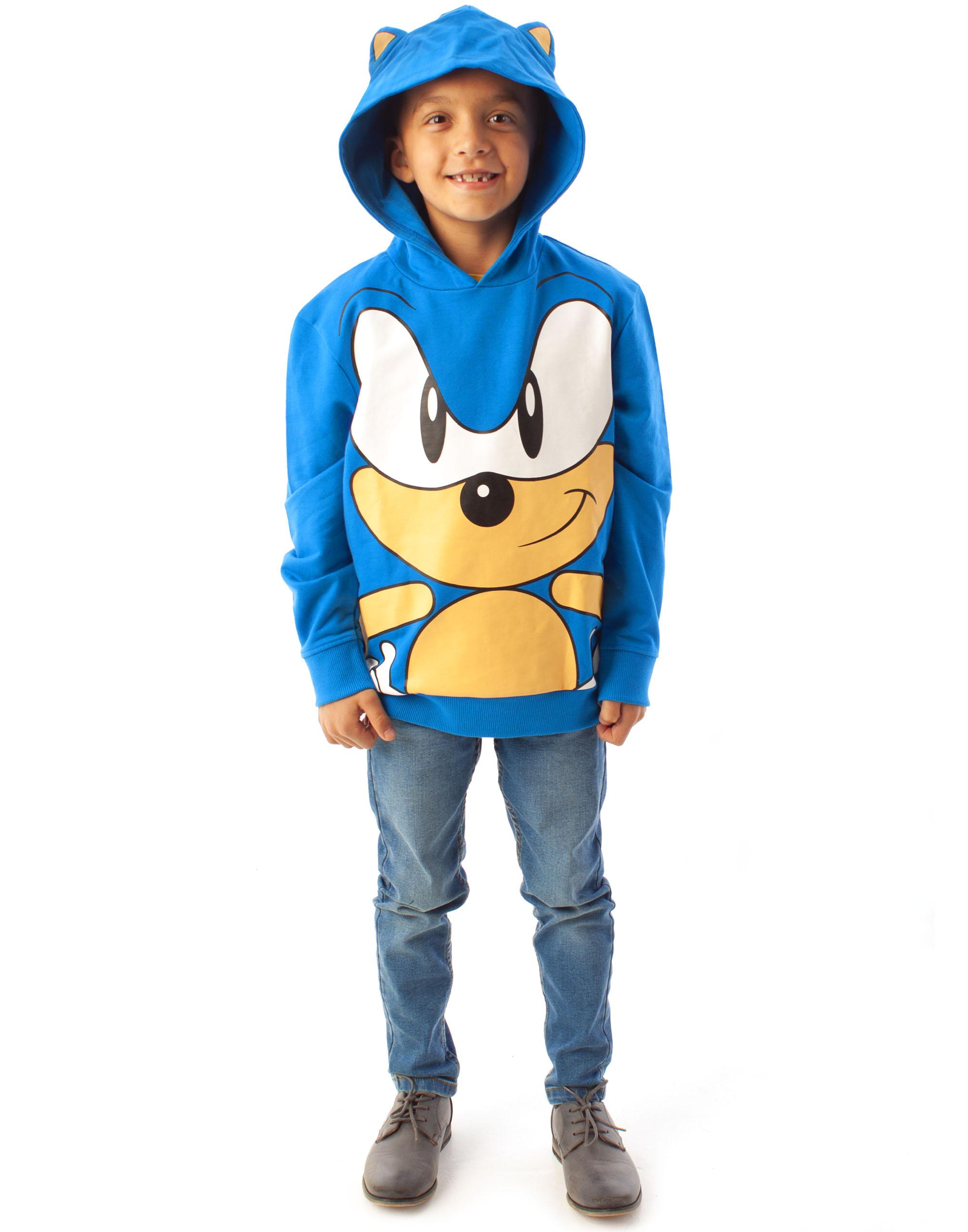 Haosheng Bambini e Ragazzi Felpa con Cappuccio Sonic The Hedgehog 3D Felpe Sportiva di Autunno e di Inverno Caldo Maniche Lunghe Fantasia Hoodie