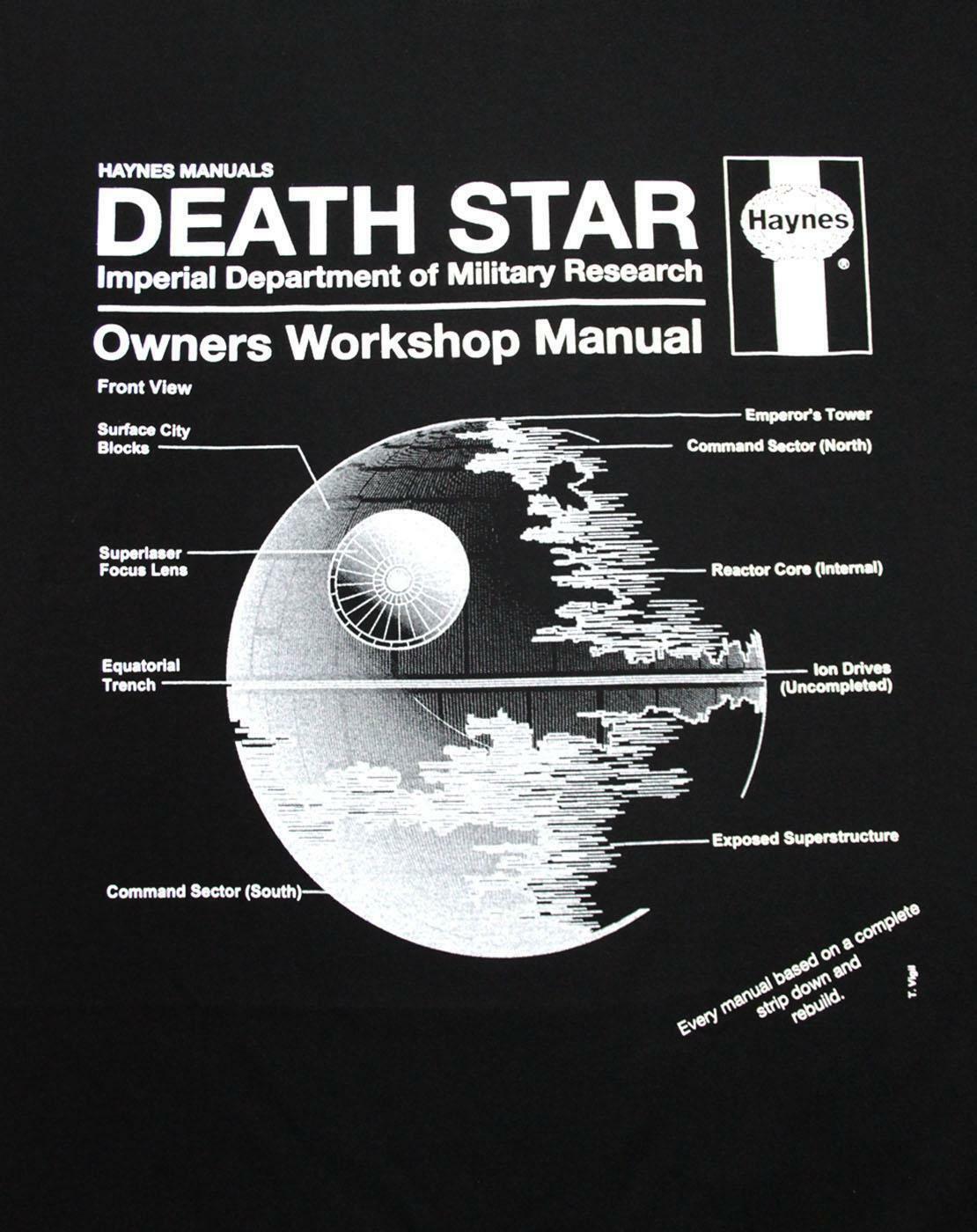 Haynes-Manual-Star-Wars-Death-Star-Men-039-s-T-Shirt thumbnail 6