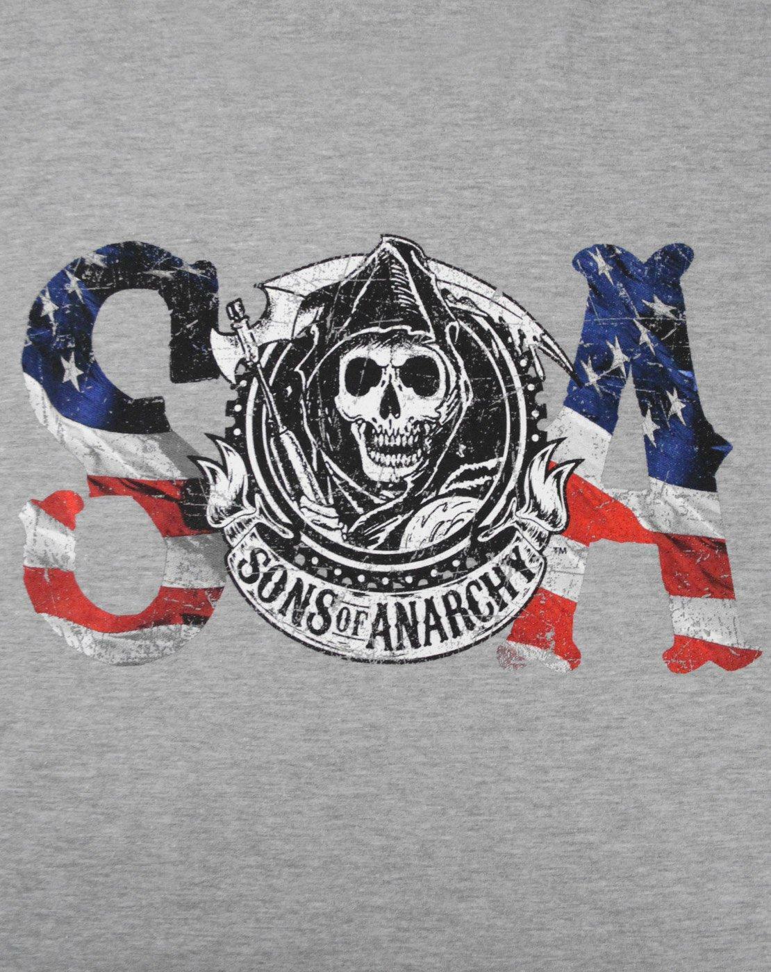 Sons-Of-Anarchy-Flag-Men-039-s-T-Shirt miniatuur 6