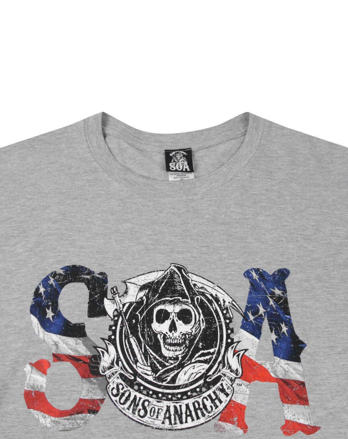 Sons-Of-Anarchy-Flag-Men-039-s-T-Shirt miniatuur 8