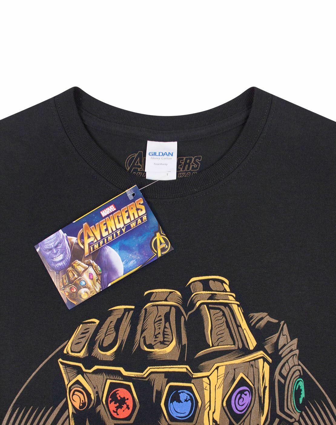 Avengers Endgame Infinity Gauntlet Men/'s Purple T-Shirt