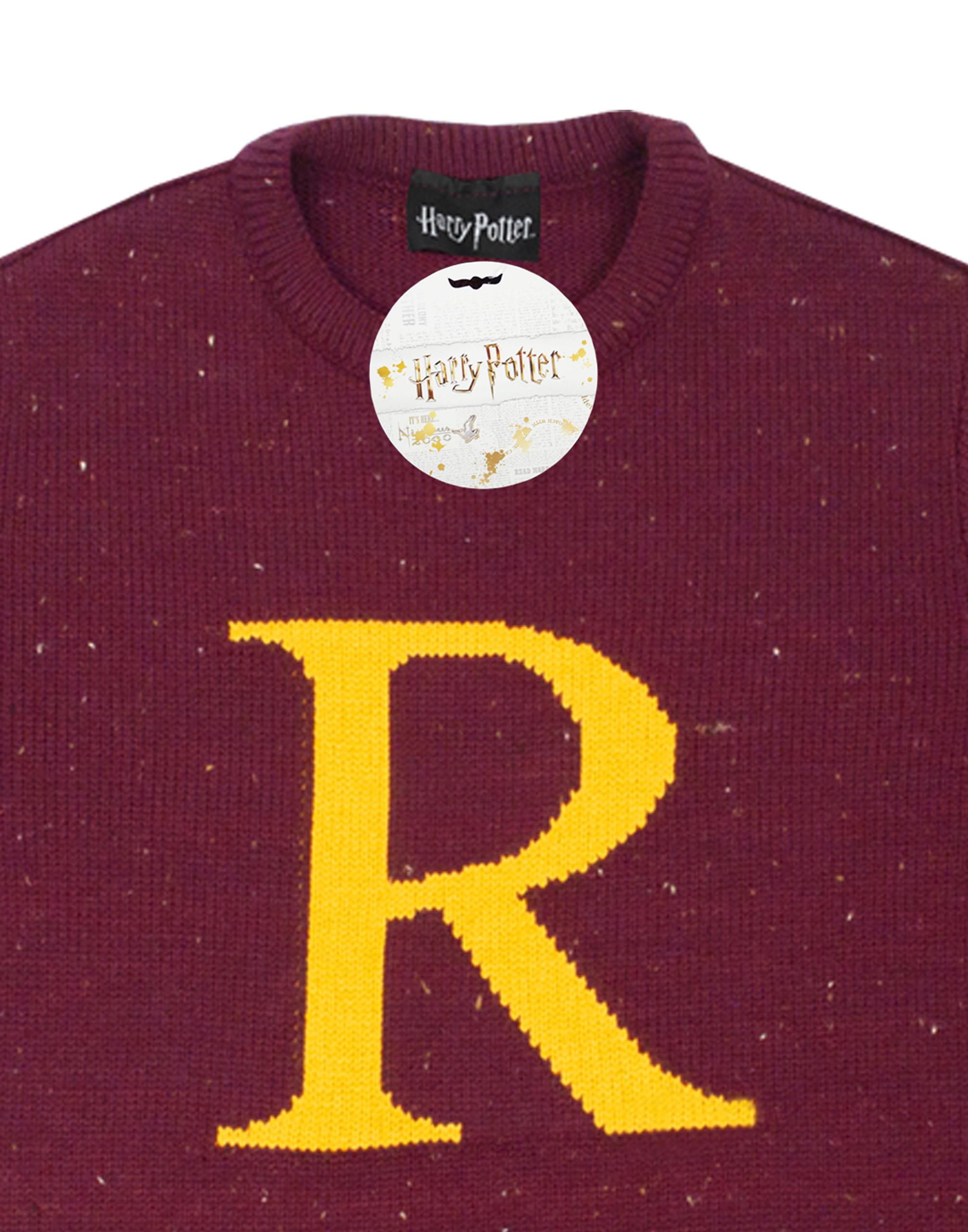 HARRY POTTER Ron Weasley Letter R Premium Knitted Unisex Su/éter para Hombre
