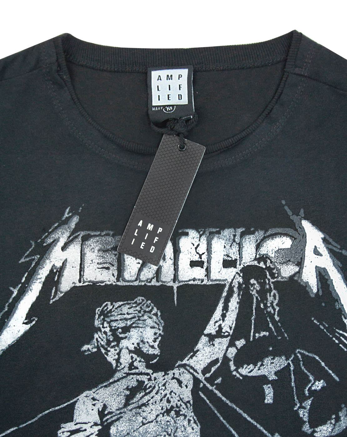 Amplified Clothing OFFICIAL! Black T-Shirt Metallica /'And Justice For All/'