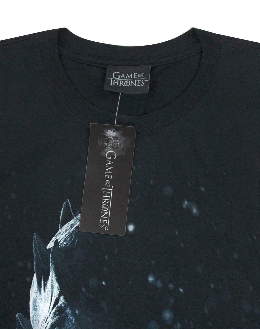 Game-Of-Thrones-Night-Ice-King-White-Walker-Leader-Men-039-s-Black-T-Shirt thumbnail 7