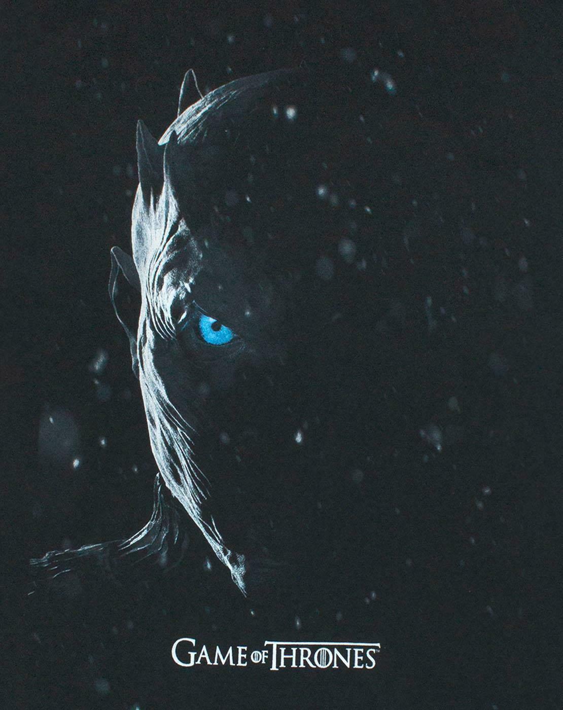 Game-Of-Thrones-Night-Ice-King-White-Walker-Leader-Men-039-s-Black-T-Shirt thumbnail 8