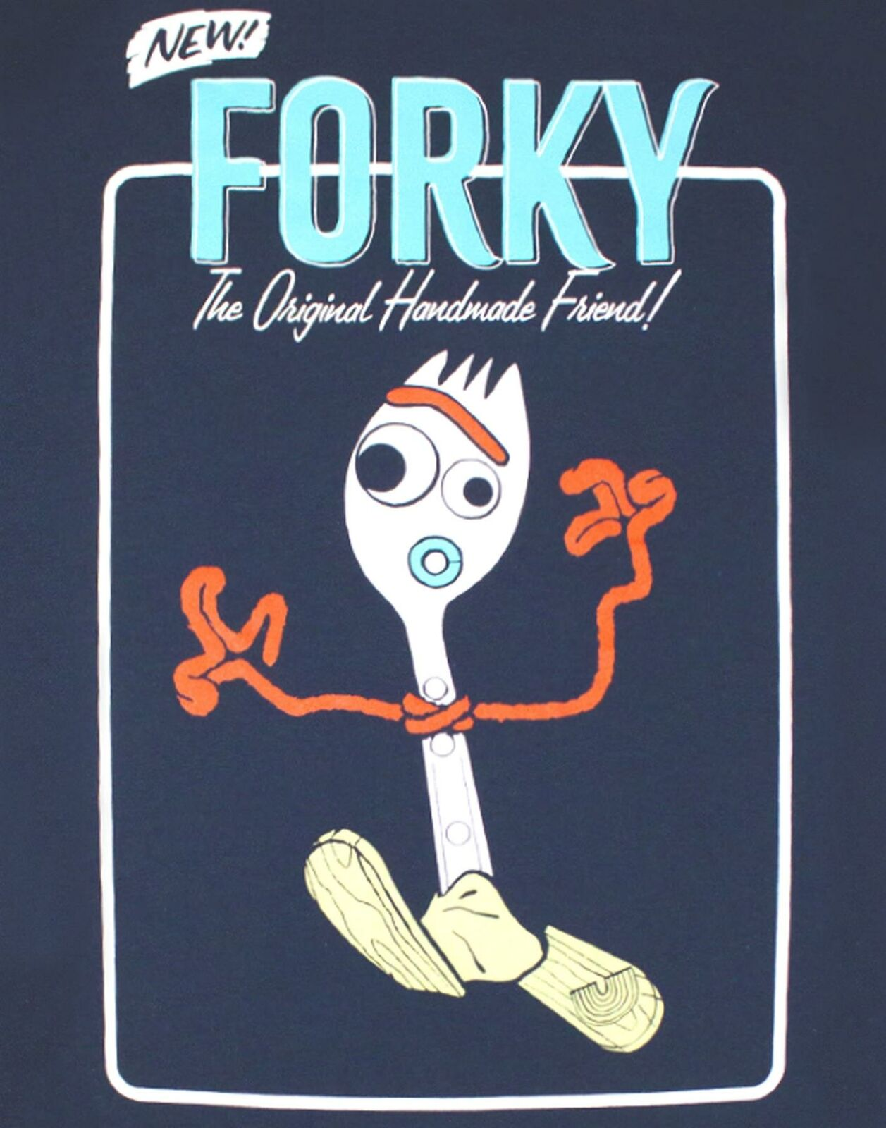 Toy-Story-Forky-Character-Men-039-s-Adults-Navy-T-Shirt-Top thumbnail 8