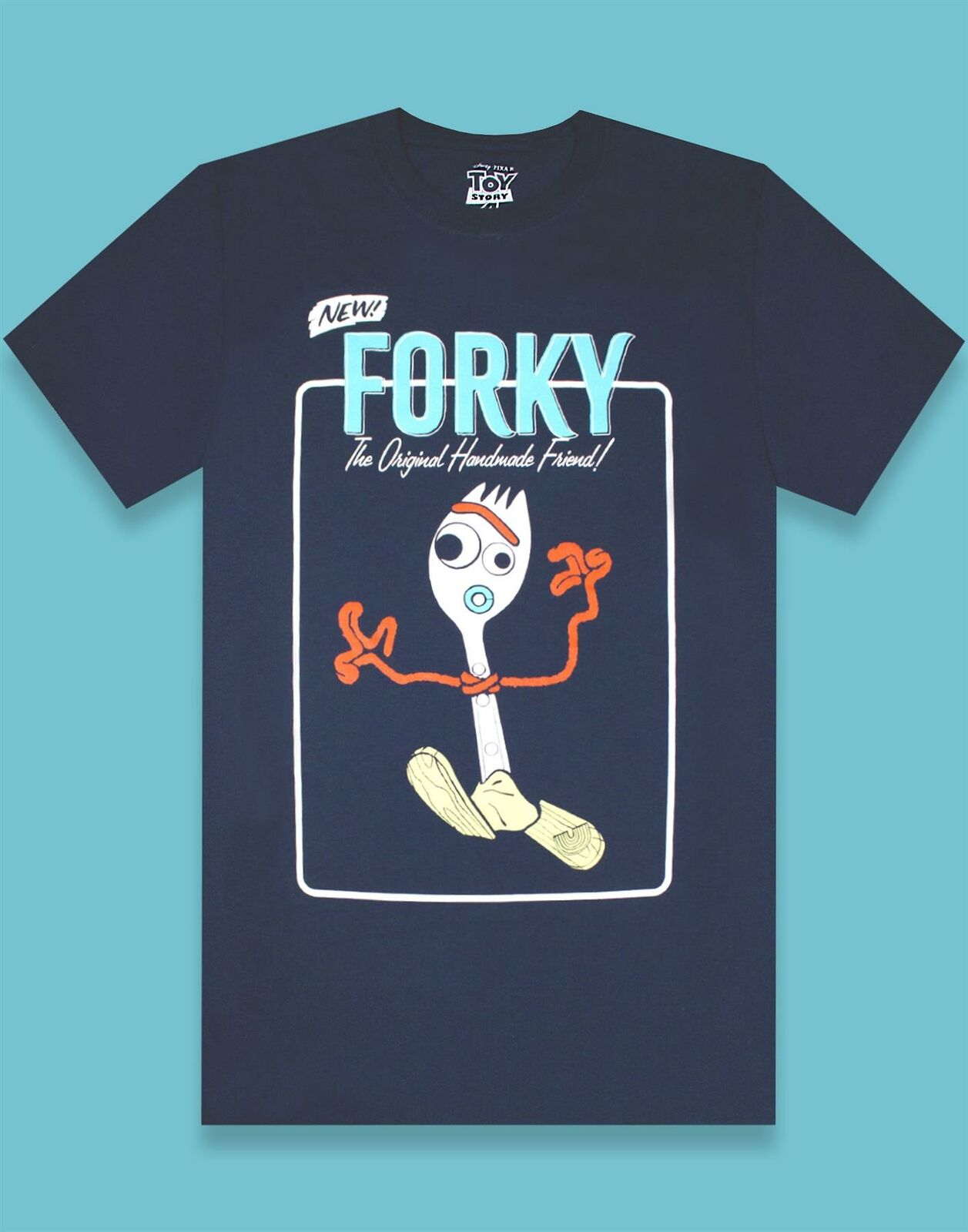Toy-Story-Forky-Character-Men-039-s-Adults-Navy-T-Shirt-Top thumbnail 7