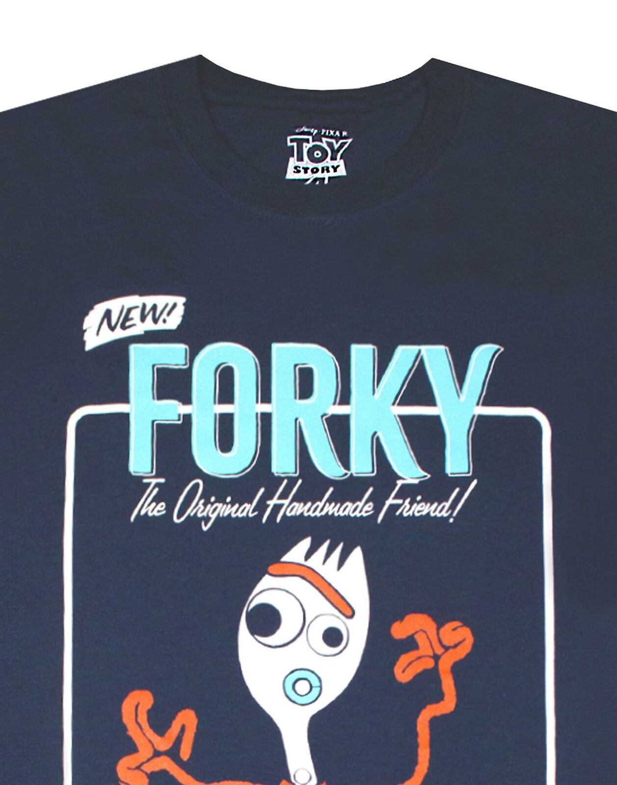 Toy-Story-Forky-Character-Men-039-s-Adults-Navy-T-Shirt-Top thumbnail 9