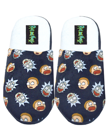 Rick and Morty TV Series Portal Logo Plush Cozy Unisex Adult Slippers