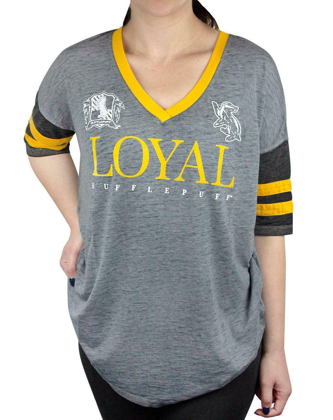 Harry-Potter-Hogwarts-House-Crests-Varsity-Women-039-s-T-Shirt-Gryfinndor thumbnail 17
