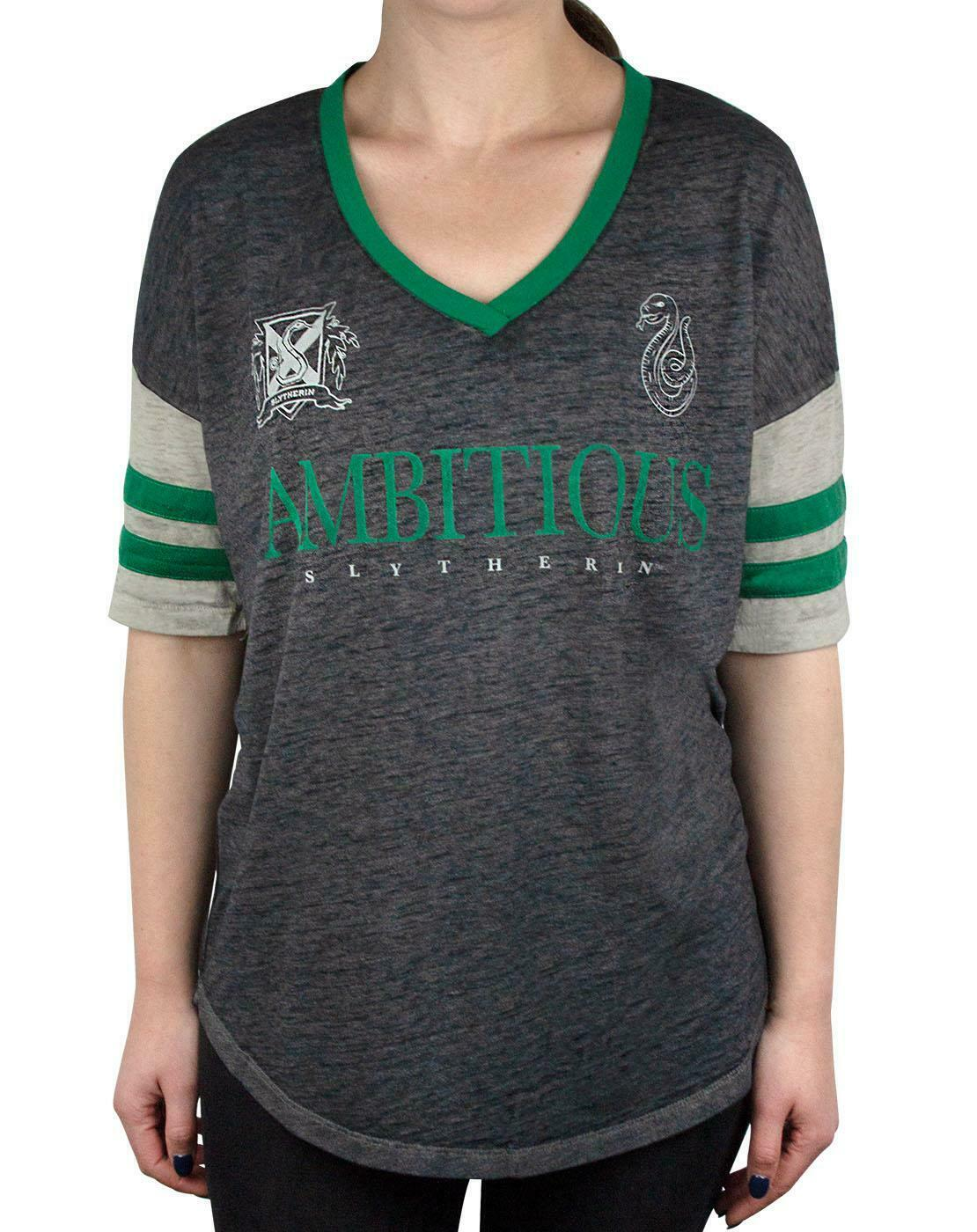 Harry-Potter-Hogwarts-House-Crests-Varsity-Women-039-s-T-Shirt-Gryfinndor thumbnail 15