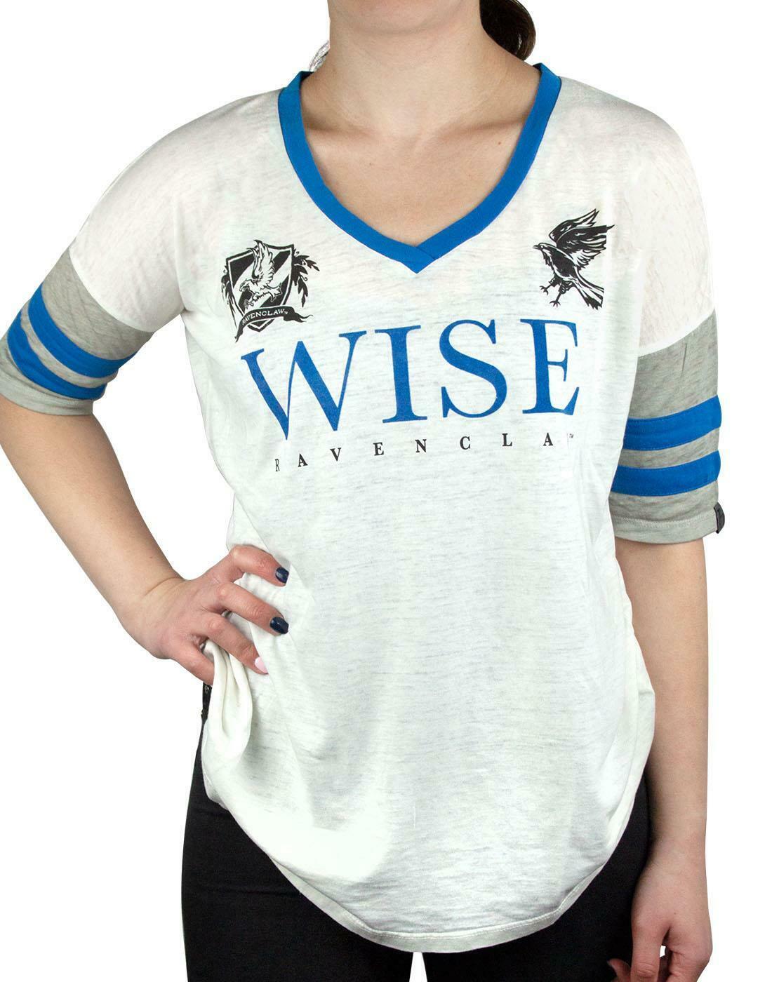 Harry-Potter-Hogwarts-House-Crests-Varsity-Women-039-s-T-Shirt-Gryfinndor thumbnail 14