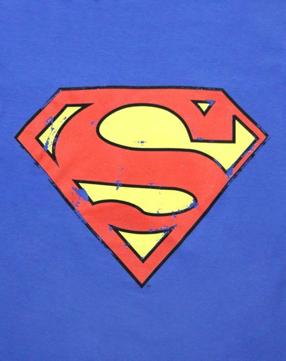 Superman-Distressed-Logo-Women-039-s-T-Shirt thumbnail 6