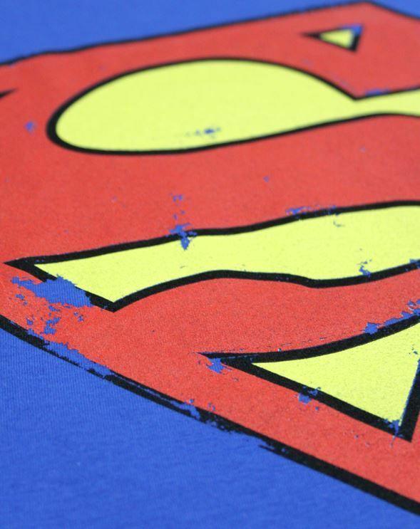 Superman-Distressed-Logo-Women-039-s-T-Shirt thumbnail 7