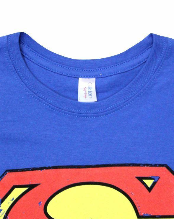 Superman-Distressed-Logo-Women-039-s-T-Shirt thumbnail 8