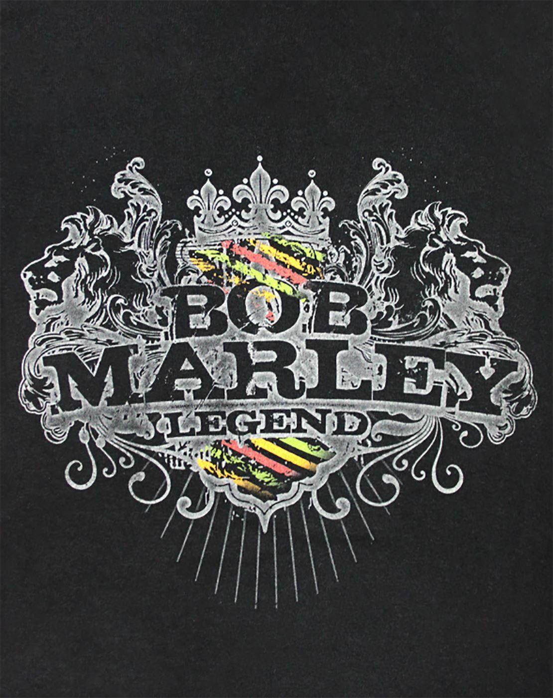 Bob-Marley-Floral-Emblem-Women-039-s-T-Shirt thumbnail 6