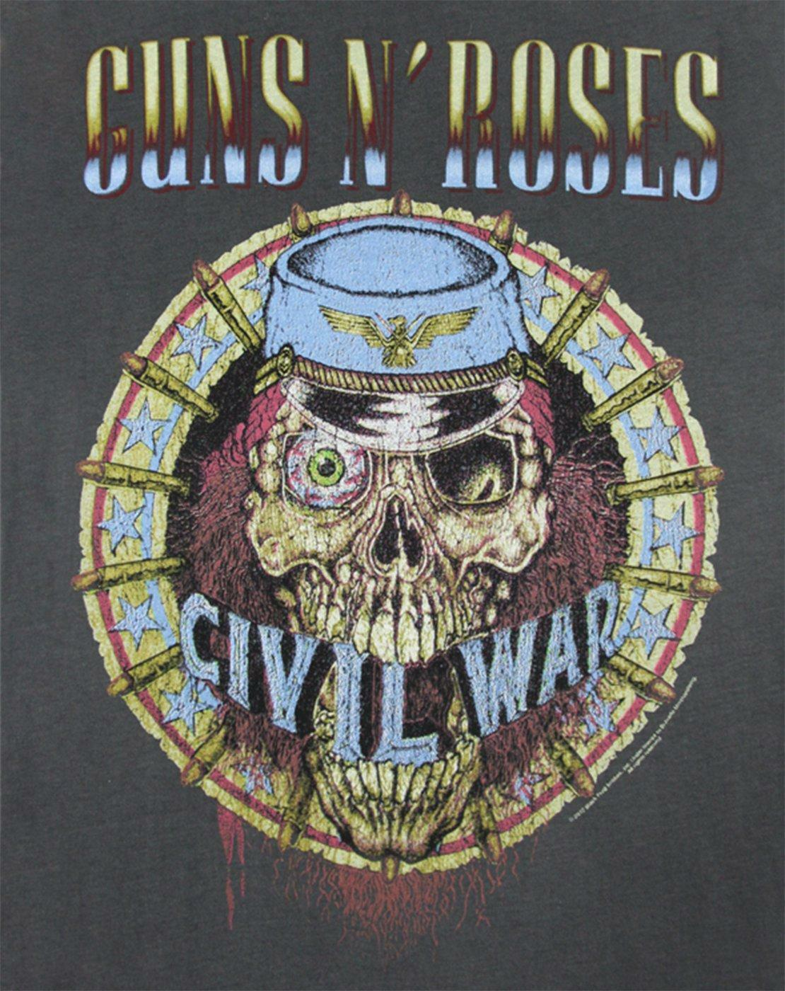 Amplified-Guns-N-Roses-Civil-War-Women-039-s-T-Shirt thumbnail 6
