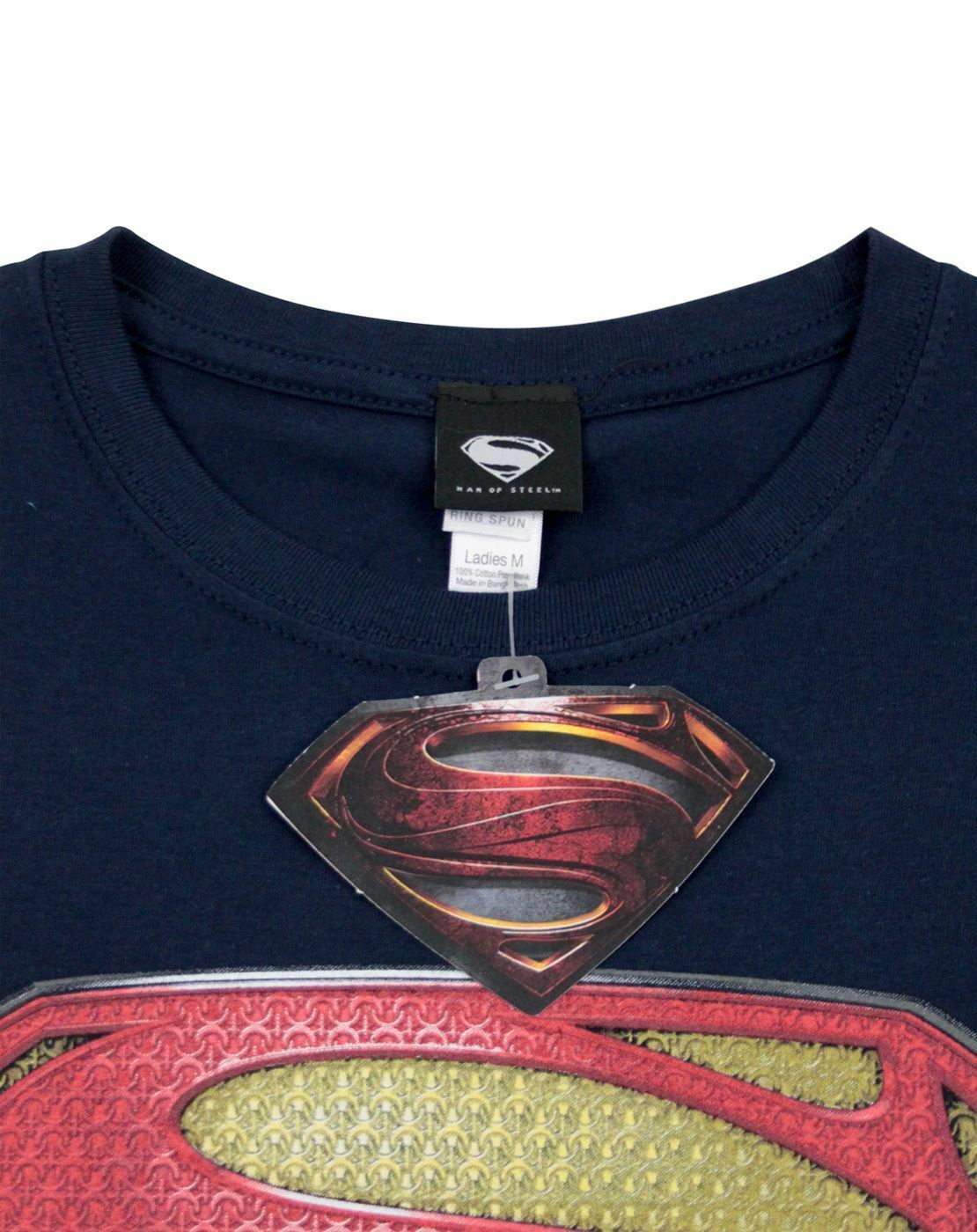 Superman-Man-of-Steel-Women-039-s-T-Shirt thumbnail 16