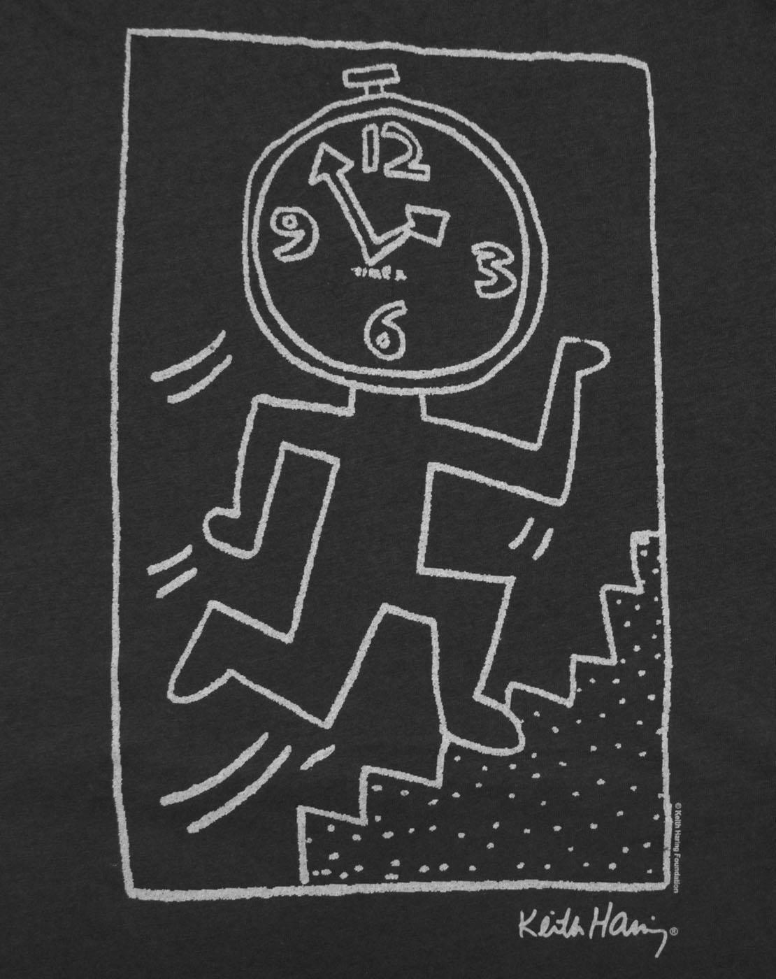 Junk-Food-Keith-Haring-Clock-Women-039-s-Racer-Back-Vest thumbnail 6
