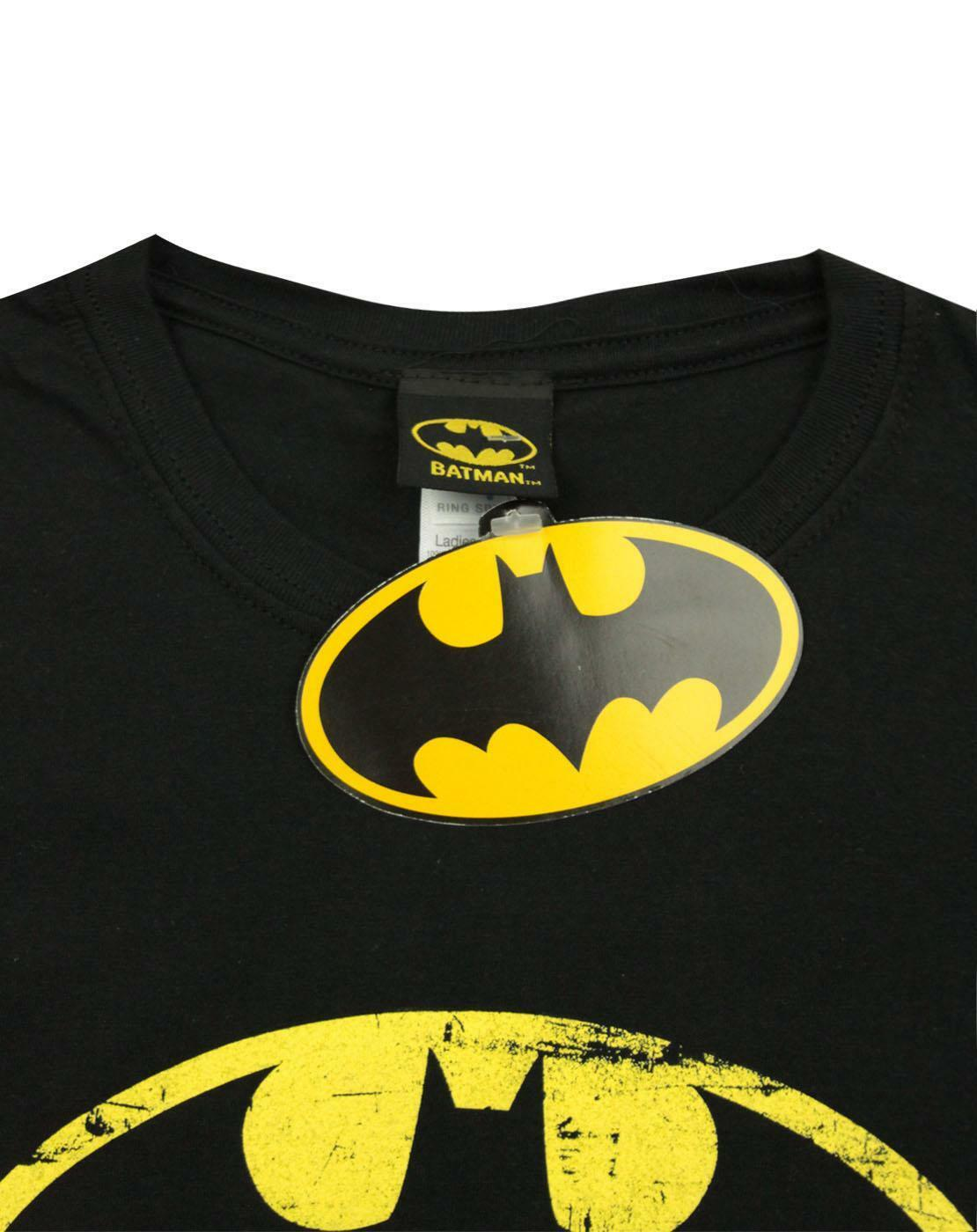 Batman-Distressed-Emblem-Women-039-s-T-Shirt thumbnail 8