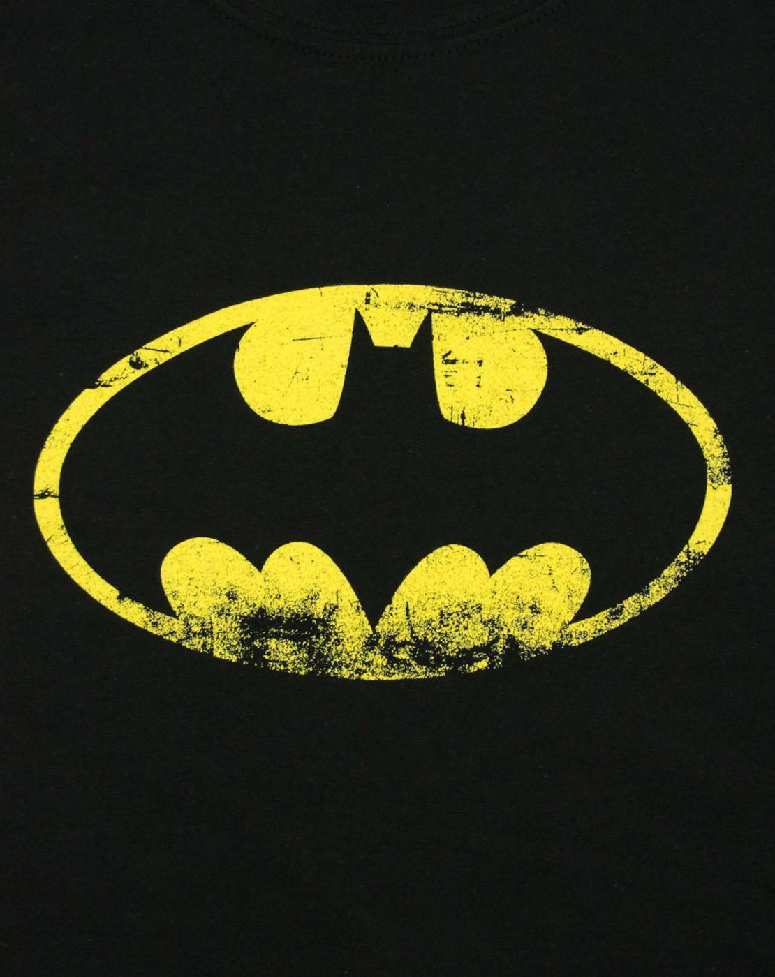 Batman-Distressed-Emblem-Women-039-s-T-Shirt thumbnail 6