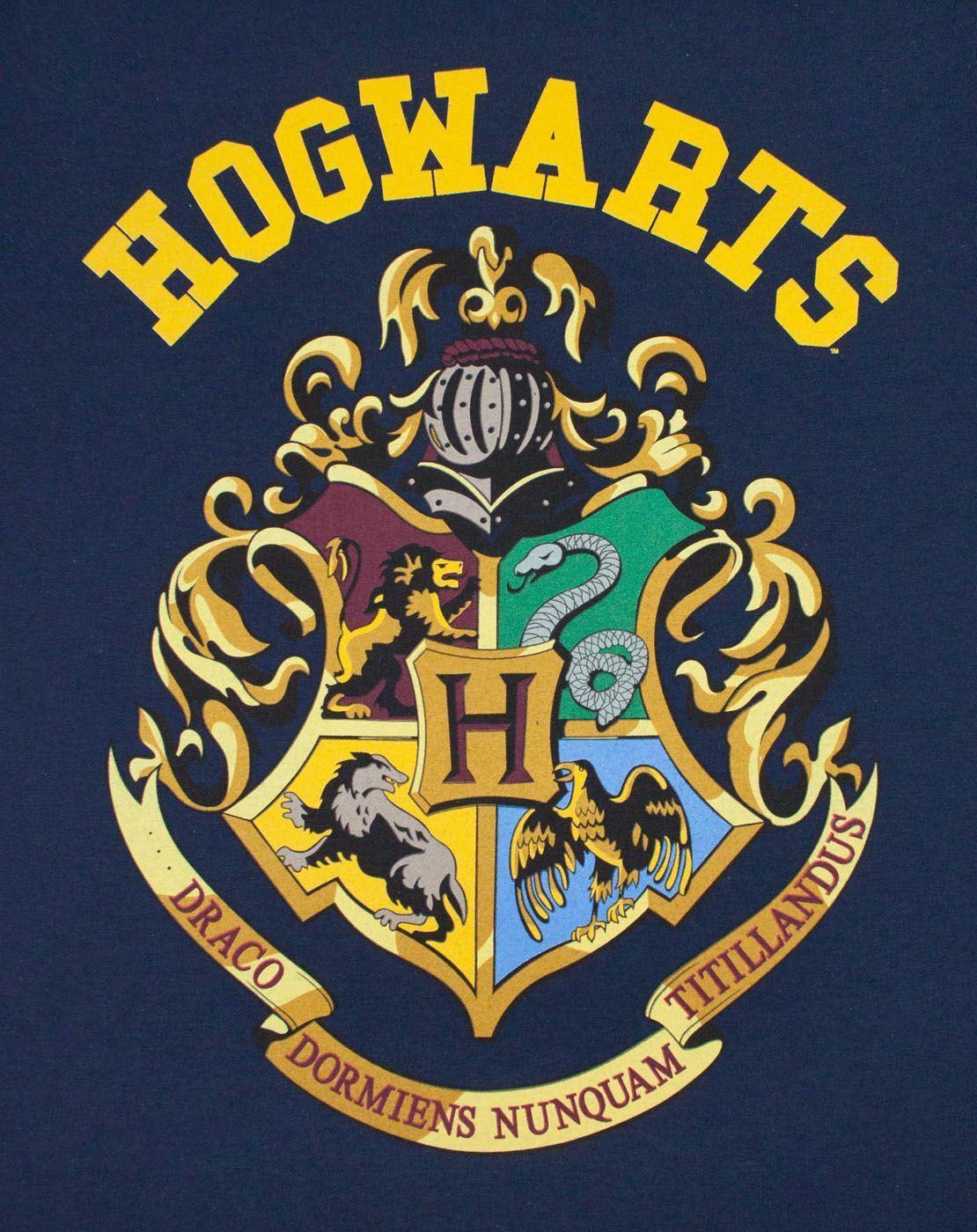 Harry-Potter-Hogwarts-Gryffindor-House-Crest-Women-039-s-Ladies-Navy-T-Shirt-Top thumbnail 7