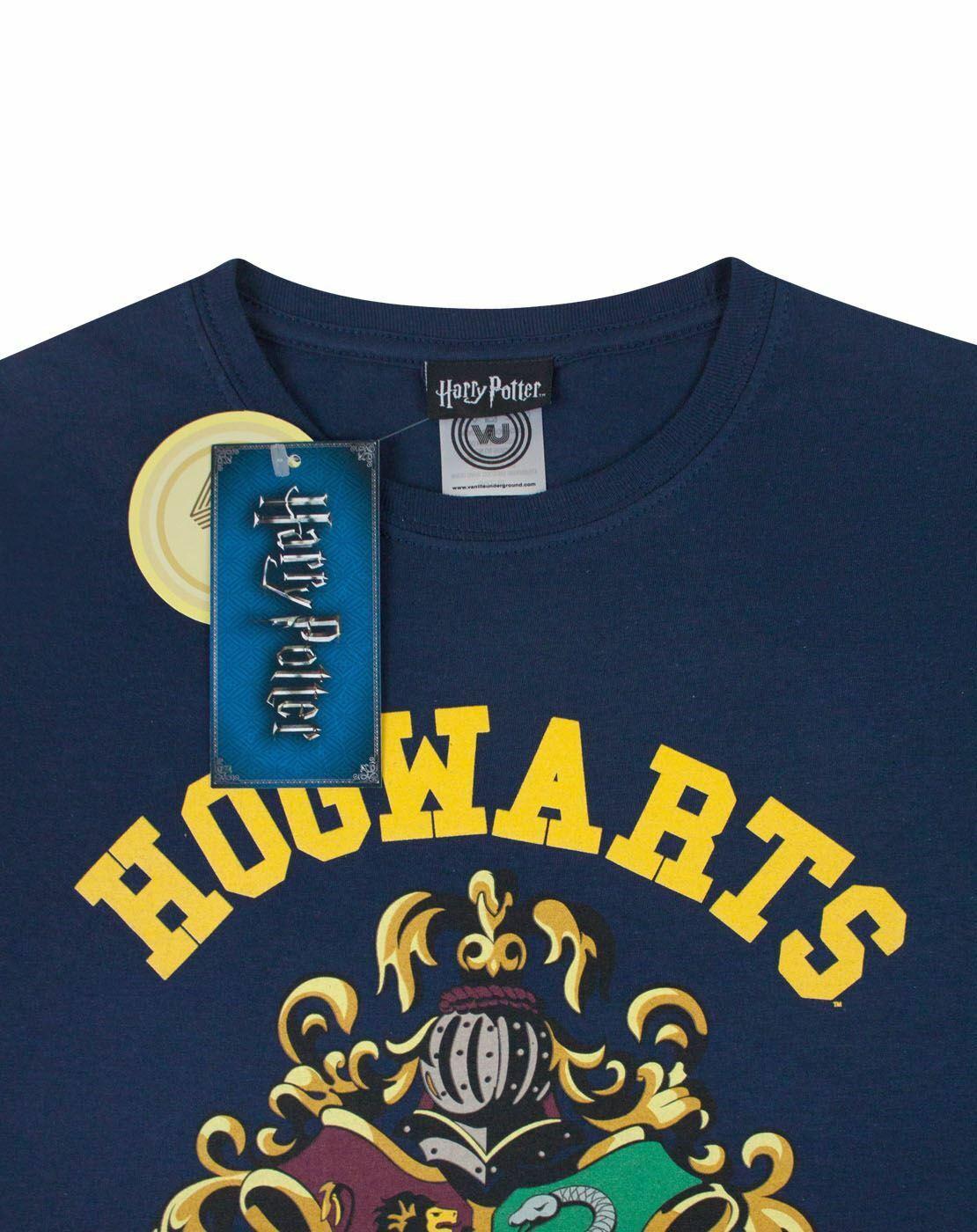 Harry-Potter-Hogwarts-Gryffindor-House-Crest-Women-039-s-Ladies-Navy-T-Shirt-Top thumbnail 9