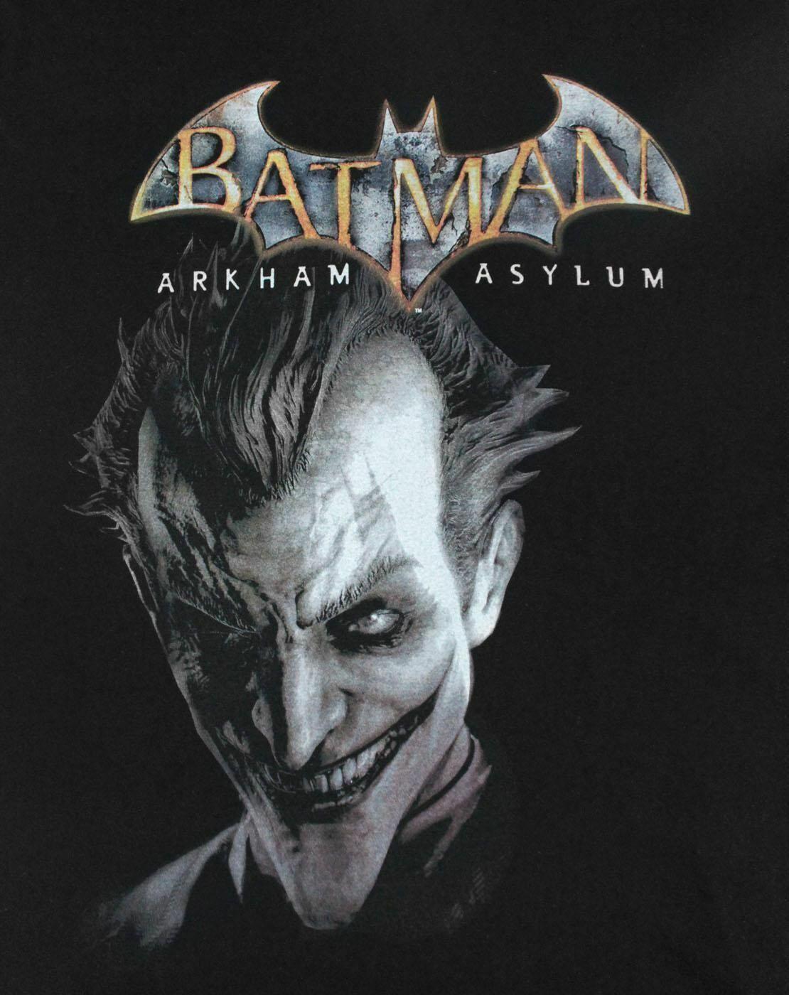 Batman-Arkham-Asylum-Joker-Women-039-s-T-Shirt thumbnail 6