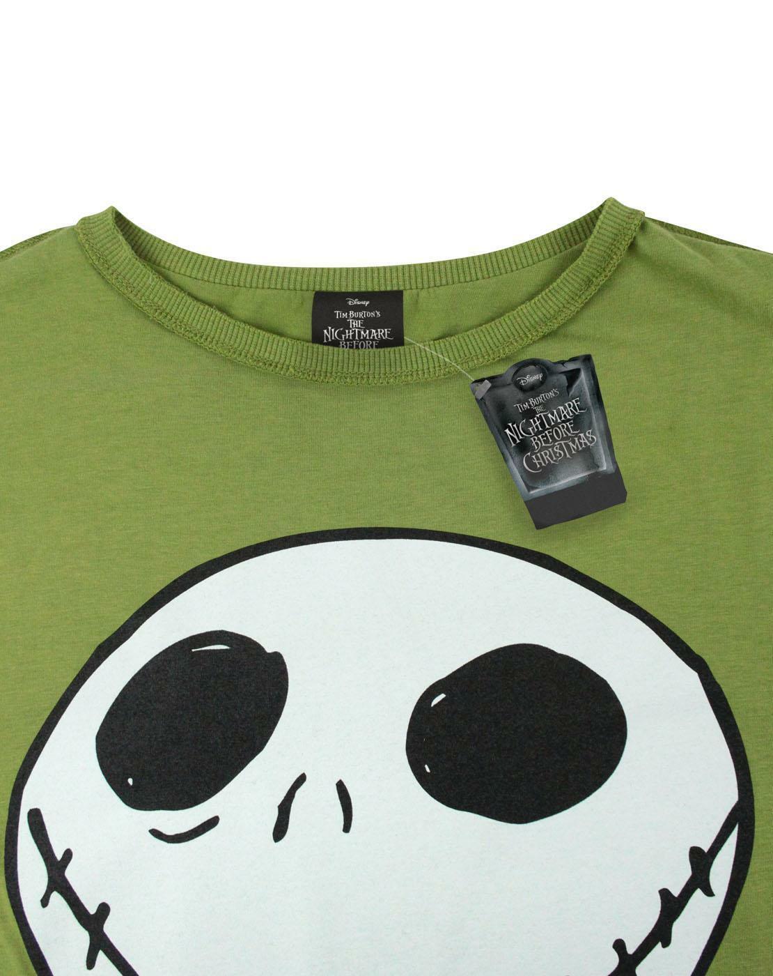 Nightmare-Before-Christmas-Jack-Reverse-Seam-Green-Women-039-s-T-Shirt thumbnail 8