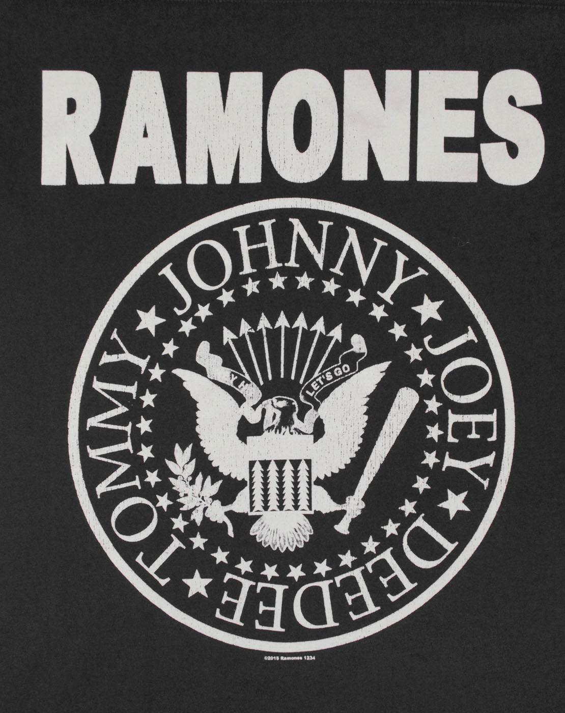 Amplified-Ramones-Seal-Logo-Women-039-s-Sheer-Panel-T-Shirt thumbnail 7