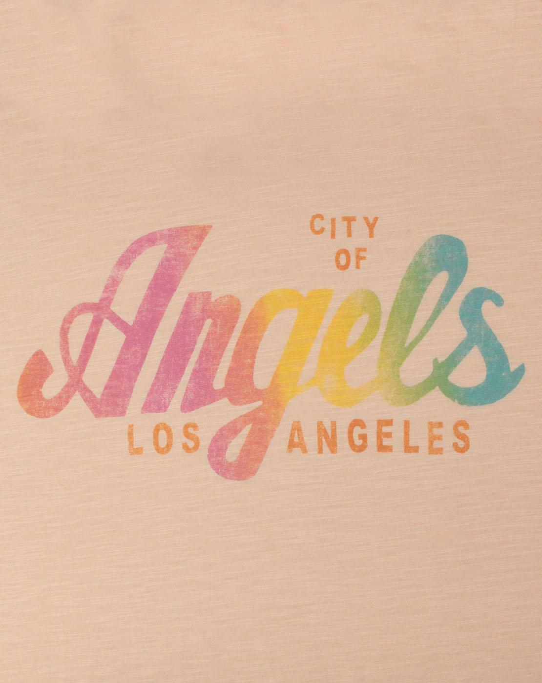Junk-Food-Los-Angeles-City-Of-Angels-Women-039-s-T-Shirt thumbnail 6